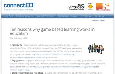 http://www.connectededucation.com/2012/02/ten-reasons-why-game-based-learning-works-in-education/