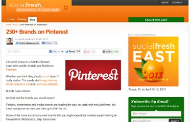 http://socialfresh.com/brands-on-pinterest/