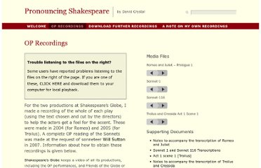 http://www.pronouncingshakespeare.com/op-recordings/