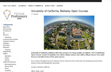 http://www.virtualprofessors.com/directory/university/berkeley