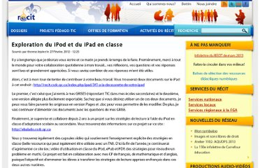 http://recit.qc.ca/article/exploration-du-ipod-et-du-ipad-en-classe