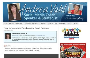 https://andreavahl.com/facebook/how-to-maximize-facebook-for-local-business.php