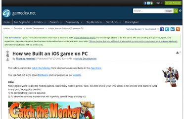http://www.gamedev.net/page/resources/_/technical/mobile-development/how-we-built-an-ios-game-on-pc-r2880