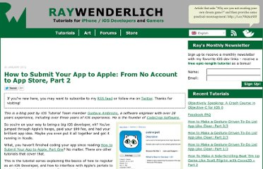 http://www.raywenderlich.com/8045/how-to-submit-your-app-to-apple-from-no-account-to-app-store-part-2
