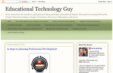 http://educationaltechnologyguy.blogspot.com/2012/02/11-steps-to-planning-professional.html
