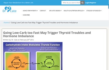 http://drcate.com/going-low-carb-too-fast-may-trigger-thyroid-troubles-and-hormone-imbalance/
