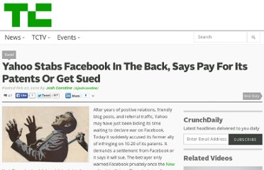 http://techcrunch.com/2012/02/27/yahoo-stabs-facebook-in-the-back-says-pay-for-its-patents-or-get-sued/