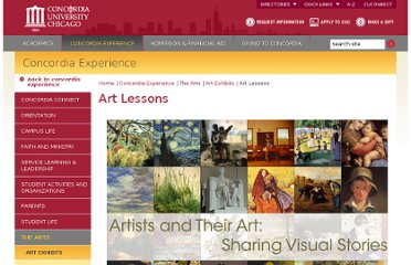 http://www.cuchicago.edu/experience/arts/visual-arts/art-lessons/