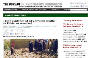 http://www.thebureauinvestigates.com/2012/02/27/fresh-evidence-of-cia-civilian-deaths-in-pakistan-revealed/