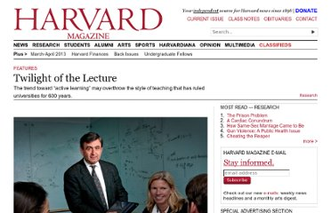 http://harvardmagazine.com/2012/03/twilight-of-the-lecture#.T0wTBduIuvk.twitter