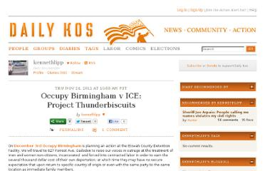 http://www.dailykos.com/story/2011/11/24/1039663/-Occupy-Birmingham-v-ICE-Project-Thunderbiscuits