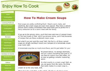 http://www.enjoy-how-to-cook.com/cream-soups.html