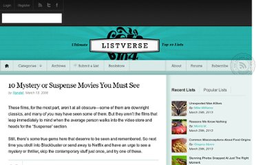 http://listverse.com/2008/03/13/top-10-mystery-or-suspense-movies-you-must-see/