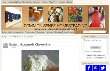 http://www.commonsensehome.com/easiest-homemade-cheese-ever/