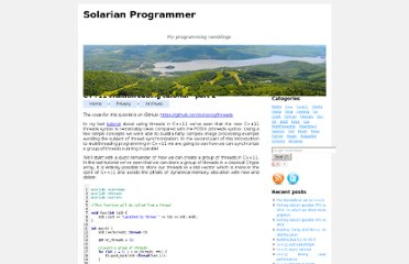 http://solarianprogrammer.com/2012/02/27/cpp-11-thread-tutorial-part-2/