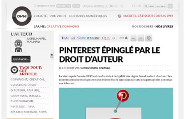 http://owni.fr/2012/02/28/pinterest-epingle-par-le-droit-dauteur/
