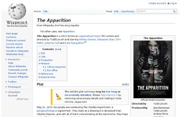 http://en.wikipedia.org/wiki/The_Apparition
