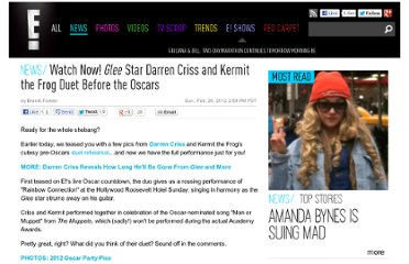 http://www.eonline.com/redcarpet/2012/oscars/news/watch-now-glee-star-darren-criss-and-kermit-the-frog-duet-before-the-oscars/296851