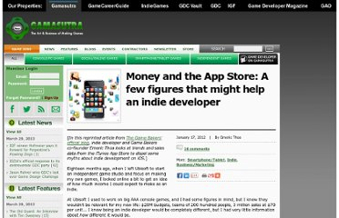 http://www.gamasutra.com/view/news/39653/Money_and_the_App_Store_A_few_figures_that_might_help_an_indie_developer.php