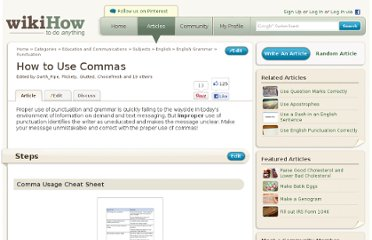 http://www.wikihow.com/Use-Commas