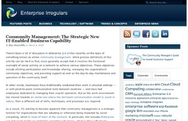 http://www.enterpriseirregulars.com/14434/community-management-the-strategic-new-it-enabled-business-capability/