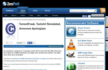 http://www.zeropaid.com/news/99310/torrentfreak-techdirt-reinstated-armovore-apologizes/