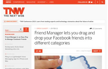 http://thenextweb.com/apps/2012/02/29/friend-manager-lets-you-drag-and-drop-your-facebook-friends-into-different-categories/