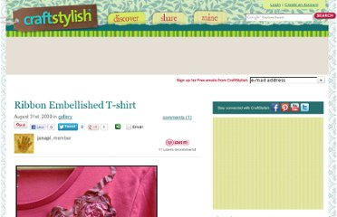 http://www.craftstylish.com/item/52064/ribbon-embellished-t-shirt