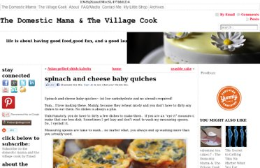 http://thevillagecook.com/spinach-and-cheese-baby-quiches/
