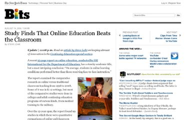 http://bits.blogs.nytimes.com/2009/08/19/study-finds-that-online-education-beats-the-classroom/