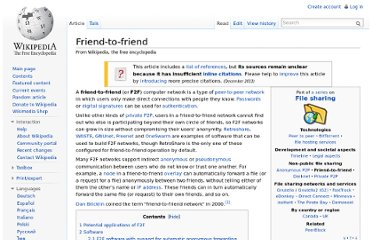 http://en.wikipedia.org/wiki/Friend-to-friend