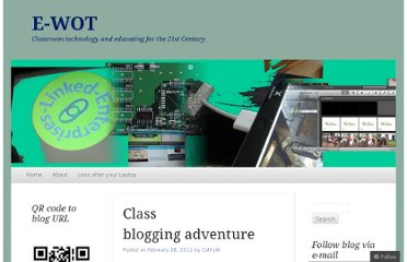 http://flatchat.wordpress.com/2012/02/28/class-blogging-adventure/