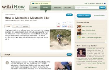 http://www.wikihow.com/Maintain-a-Mountain-Bike