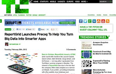 http://techcrunch.com/2012/02/28/reportgrid-launches-precog-to-help-you-turn-big-data-into-smarter-apps/