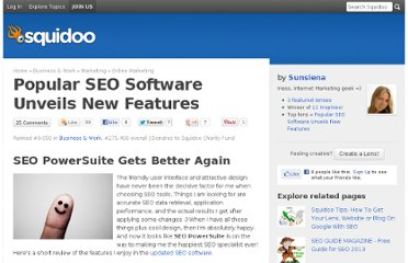 http://www.squidoo.com/popular-seo-software-unveils-new-features