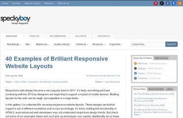 http://speckyboy.com/2012/02/29/40-examples-of-brilliant-responsive-website-layouts/