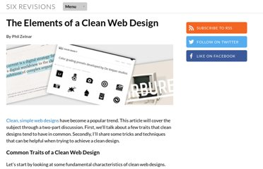 http://sixrevisions.com/web_design/elements-clean-web-design/