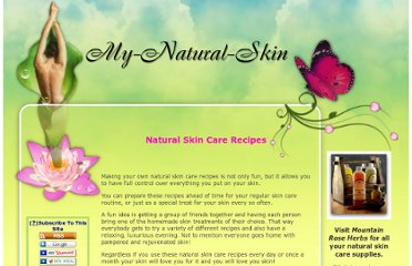 http://www.my-natural-skin.com/natural-skin-care-recipes.html