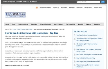 http://www.bytestart.co.uk/how-to-handle-interviews-with-journalists-top-tips.html