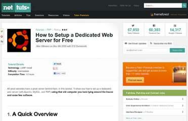 http://net.tutsplus.com/tutorials/php/how-to-setup-a-dedicated-web-server-for-free/