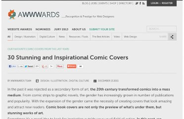 http://www.awwwards.com/30-stunning-and-inspirational-comic-covers.html