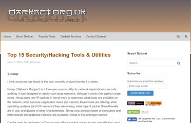 http://www.darknet.org.uk/2006/04/top-15-securityhacking-tools-utilities/