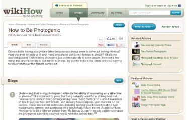 http://www.wikihow.com/Be-Photogenic
