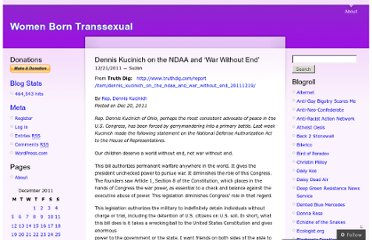 http://womenborntranssexual.com/2011/12/21/dennis-kucinich-on-the-ndaa-and-war-without-end/