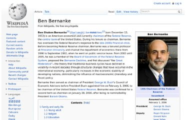 http://en.wikipedia.org/wiki/Ben_Bernanke#Education