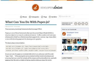 http://www.developerdrive.com/2012/02/what-can-you-do-with-paper-js/