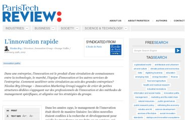 http://www.paristechreview.com/2012/02/29/innovation-rapide/