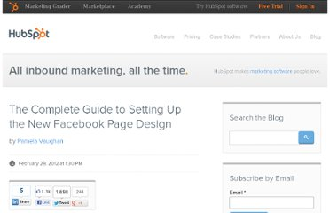 http://blog.hubspot.com/blog/tabid/6307/bid/31633/The-Complete-Guide-to-Setting-Up-the-New-Facebook-Page-Design.aspx