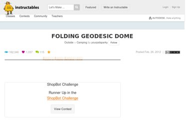 http://www.instructables.com/id/Folding-Geodesic-Dome/