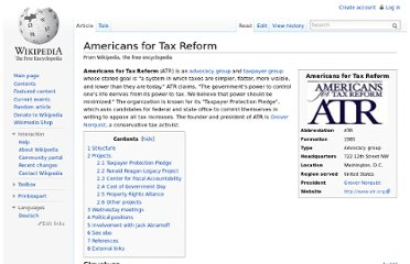 http://en.wikipedia.org/wiki/Americans_for_Tax_Reform